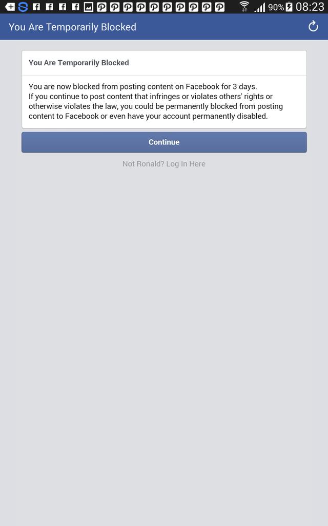 Problem akun Facebook yang tiba2 dibanned