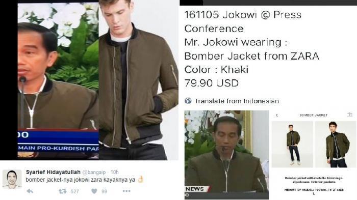 Banyak Netter Belikan Suaminya Jaket Seperti Dipakai Presiden Jokowi