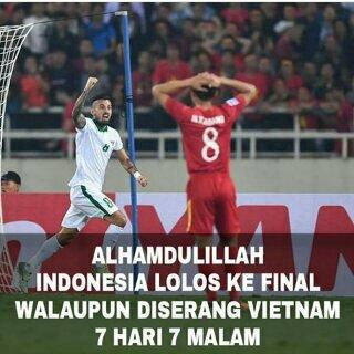 Dramatis, Indonesia Lolos ke Final Usai Bungkam Vietnam