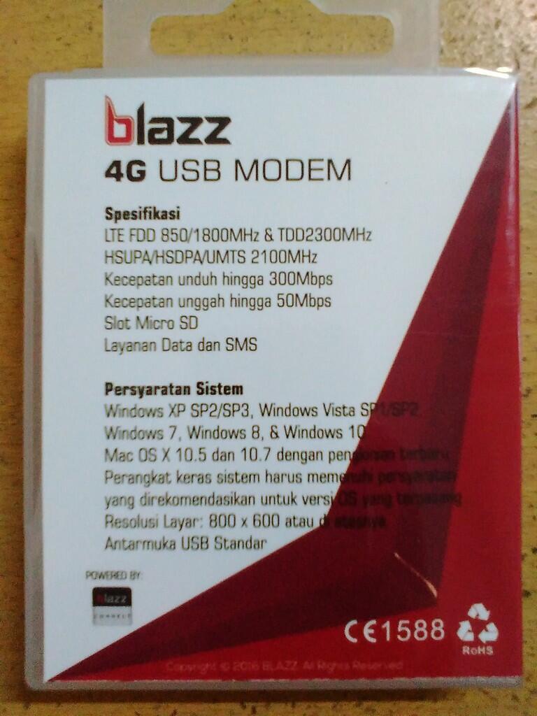 Usb Modem Blazz Rx300 4g Lte Fdd 850 1800mhz Tdd 2300mhz Pendatang Unlock All Operator Indonesia Baru Brani Diadu