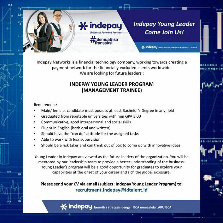 MANAGEMENT TRAINEE - INDEPAY YOUNG LEADER PROGRAM
