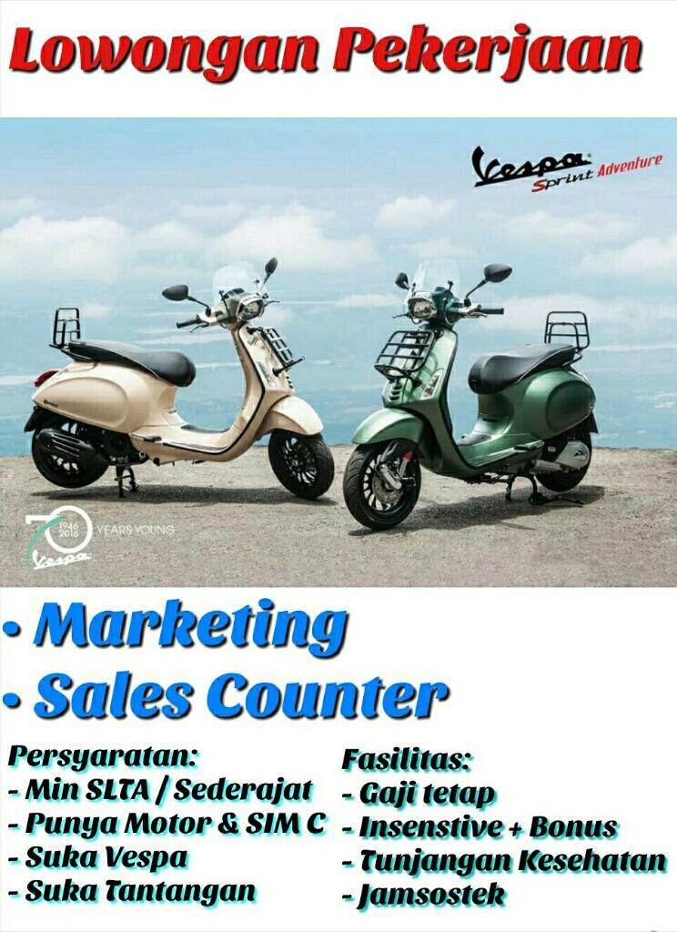 Marketing piaggio Vespa Untuk Wilayah Depok