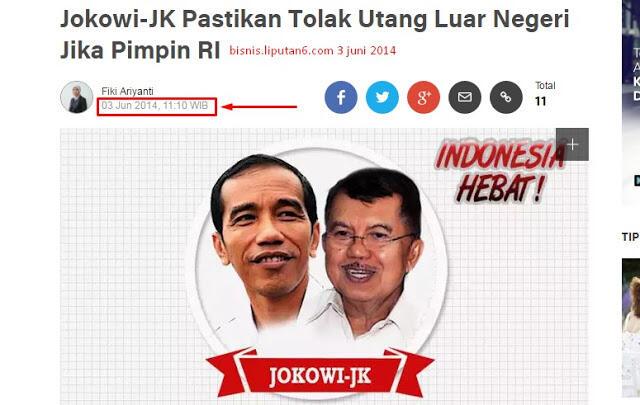 """Review perjalanan Jokowi - JK: Perjalanan Utang Luar Negeri Indonesia """"Meroket"""""""
