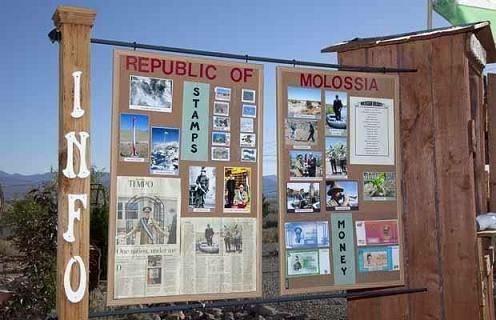 Sudut kota dari Republik Molossia