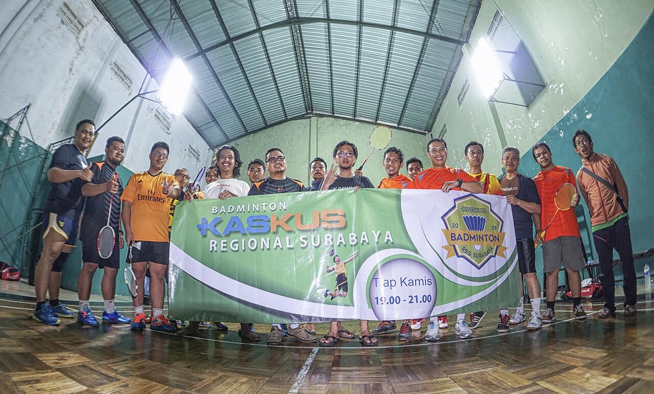 ๑۞๑ Badminton Reg. Surabaya tiap Kamis jam 19.00-21.00 ๑۞๑