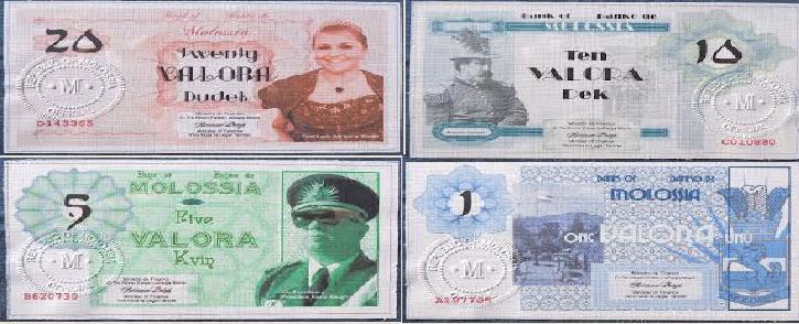 Mata uang Molossia