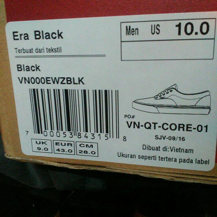 ukuran sepatu vans original