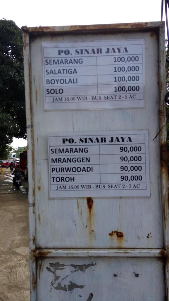 Catatan Waktu Sinar Jaya 27rc Jakarta Solo Kaskus