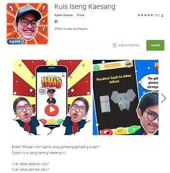 Kuis Iseng, Game Trivia Si Anak Presiden