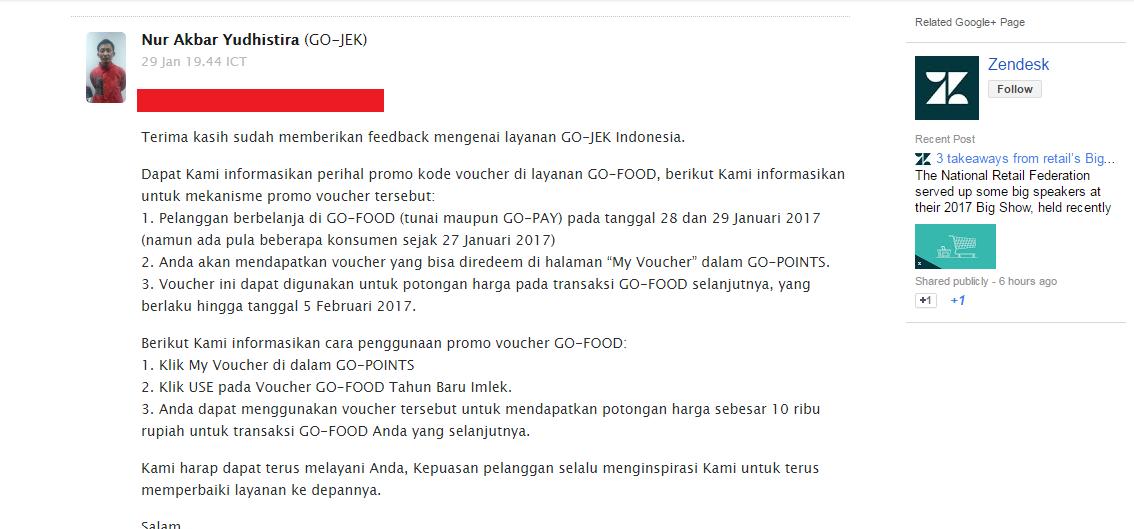 Ditagih Voucher Go Food Eh Cs Go Jek Malah Kabur Kaskus