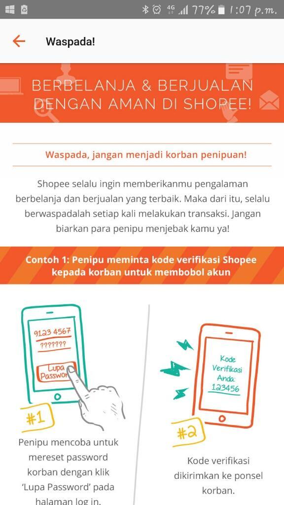Penipuan Online Shop Shopee Page 10 Kaskus