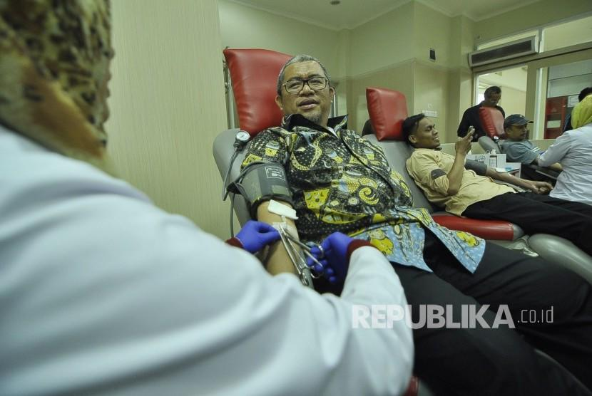 In Picture: Aher Donor Darah di PMI Bandung