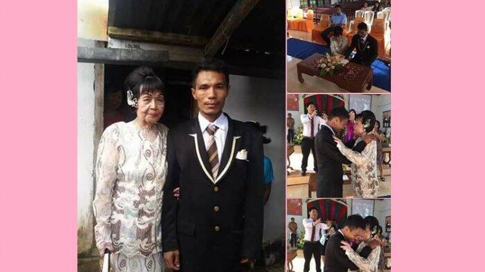 Pernikahan Nenek Berusia 82 Nikahi Pemuda 28 Tahun Bikin Heboh di Manado