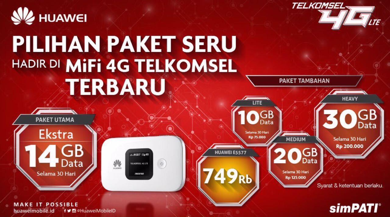 Mifi 4g Huawei E5577 Free Telkomsel 14gb Unlock Version Garansi 3 Modem Wifi All Operator Best Seller Review Tahun