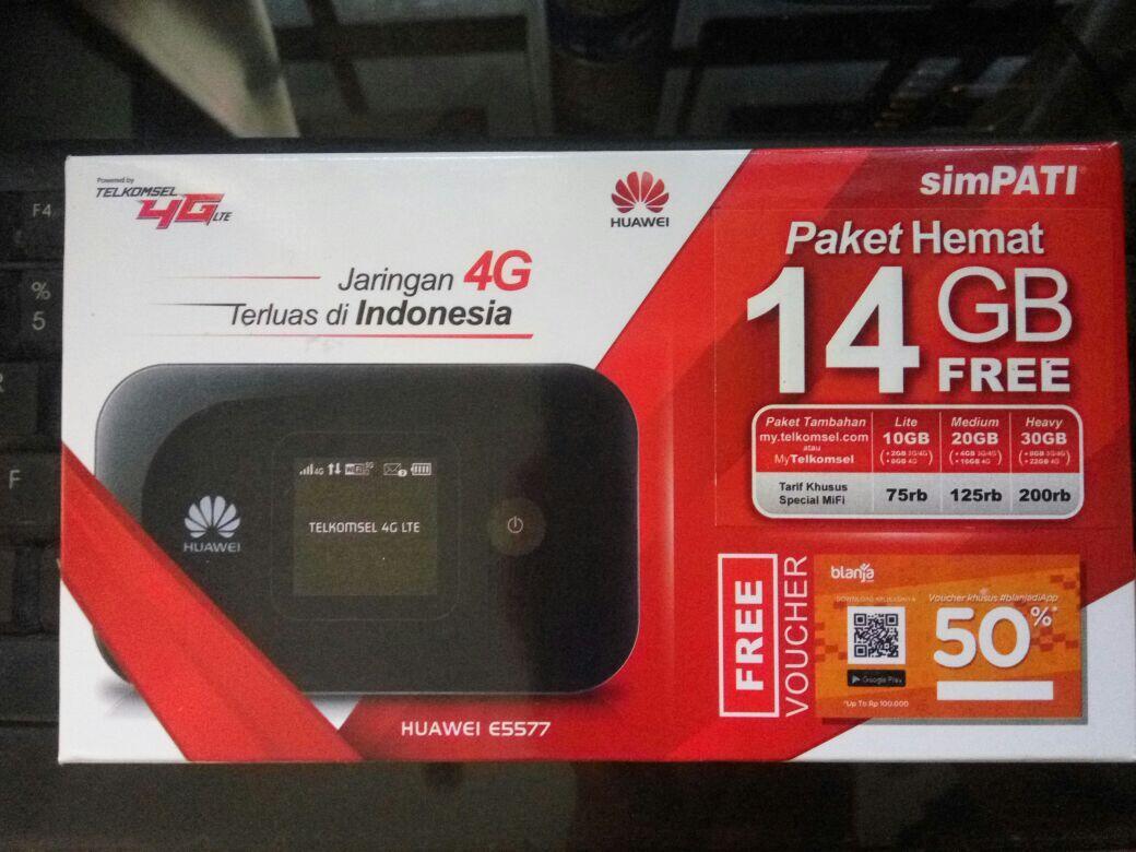Mifi 4g Huawei E5577 Free Telkomsel 14gb Unlock Version Garansi 3 Router Modem Wifi E5573 Bypass Tsel Review Tahun