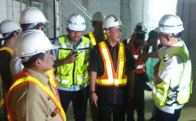 Ketua DPRD DKI Takjub Lihat Pembangunan MRT