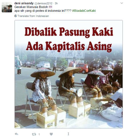 Heboh #BiadabCorKaki di Sosial Media