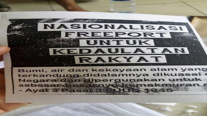 Mahasiswa Galang Koin Beli Freeport dan Bangun Posko Nasionalisasi