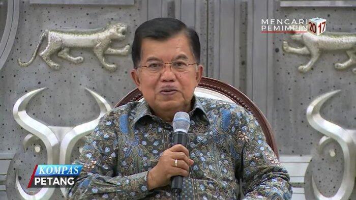 Wapres JK Bantah Pertemuan Lembaga Tinggi Bicarakan Kasus e-KTP
