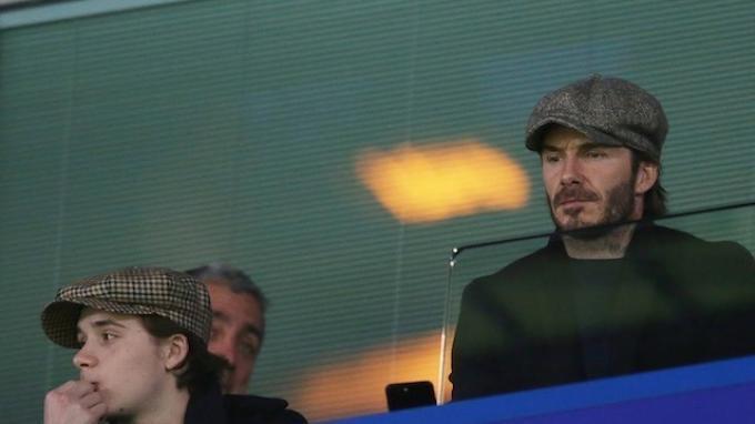 David Beckham Tonton Laga Chelsea vs Manchester United di Stamford Bridge