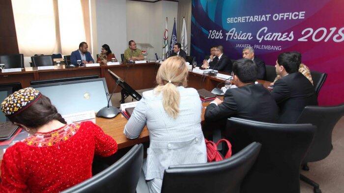 Tujuh Anggota Delegasi AIMAG 2017 Turkmenistan Kunjungi INASGOC