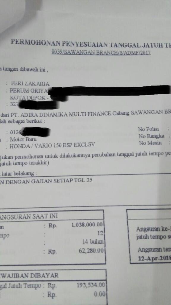 Surat Terbuka Untuk Pt Adira Finance Page 2 Kaskus