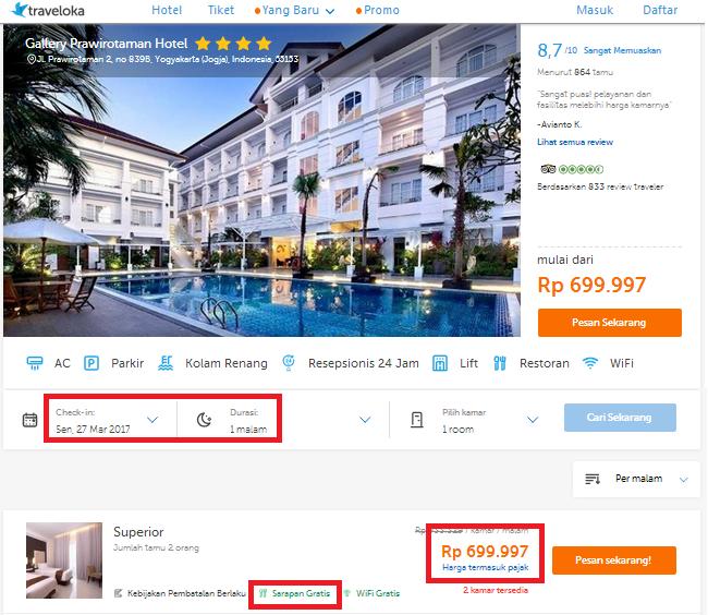 Perbandingan Harga Hotel Agoda vs Tiket dot com Traveloka