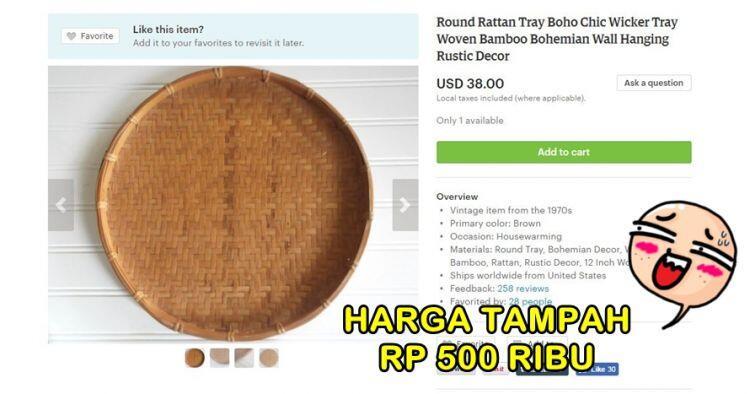 7 Produk khas Indonesia ini dijual mahal di situs online luar negeri