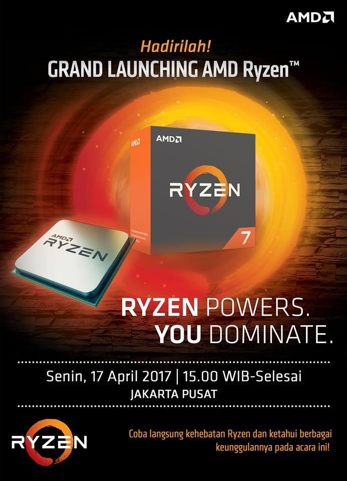 Mau Ikutan Launching AMD Ryzen di Jakarta? Klik Sini Gan