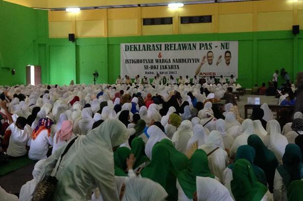Ribuan Warga Nahdliyin se-DKI Deklarasi Dukung Pasangan Anies-Sandi