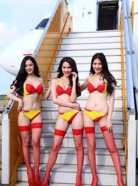 Maskapai VietJet dengan Pramugari Berbikini Siap Jelajahi Langit Indonesia