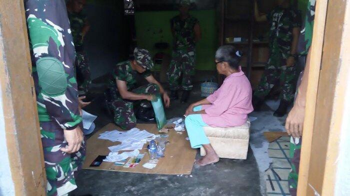 Petugas TNI Temukan Bong saat Penertiban Kompleks Kowilhan