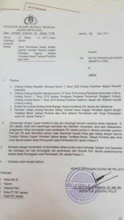 Pertimbangkan Kerawanan, Polda Metro Jaya Ajukan Surat Penundaan Sidang Ahok