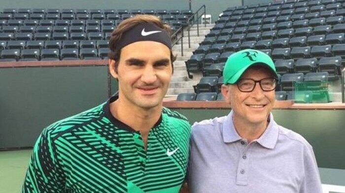 Roger Federer akan Berpasangan dengan Bill Gates