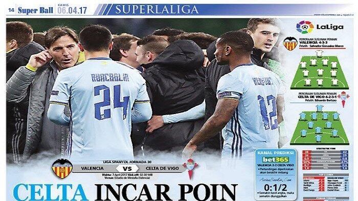Celta Vigo Incar Poin Penuh di Laga Kontra Valencia
