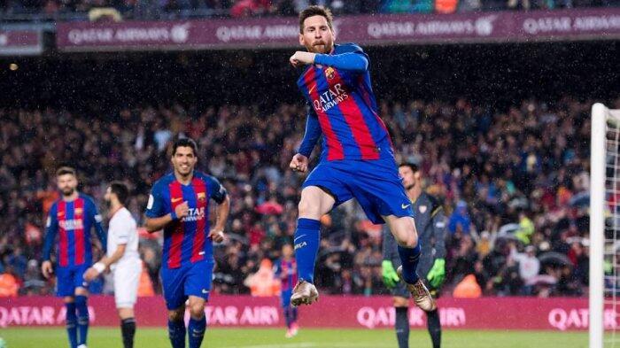 Messi 2 Gol, Barcelona Hajar Sevilla