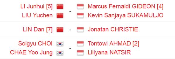 Indonesia Sisakan 3 Wakil di Perempat Final Malaysia Open 2017