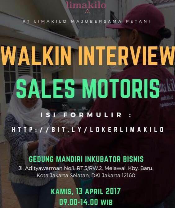 Walkin Interview PT Limakilo Gaji Bagus!
