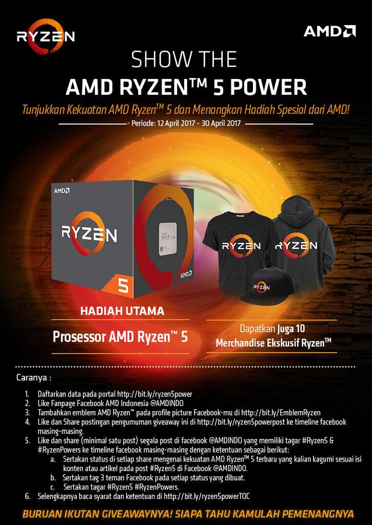 Mau Prosessor AMD Ryzen 5 Gratis? Masuk Sini Gan!