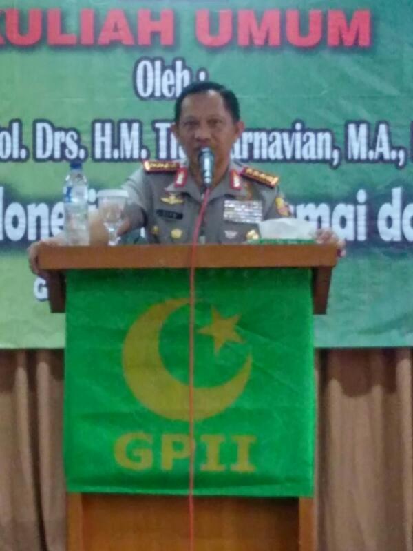 Kapolri Memberikan Kuliah Umum kepada Anggota Gerakan Pemuda Islam Indonesia