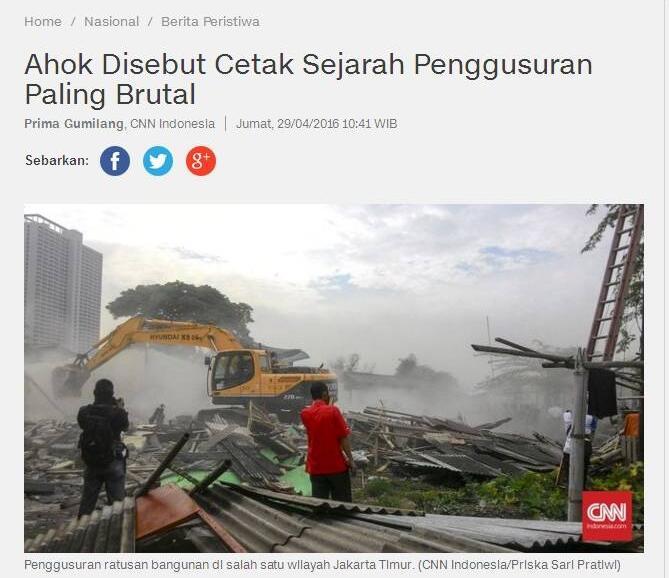 LBH Jakarta: Ahok-Djarot Menang, 325 Wilayah Bakal Digusur