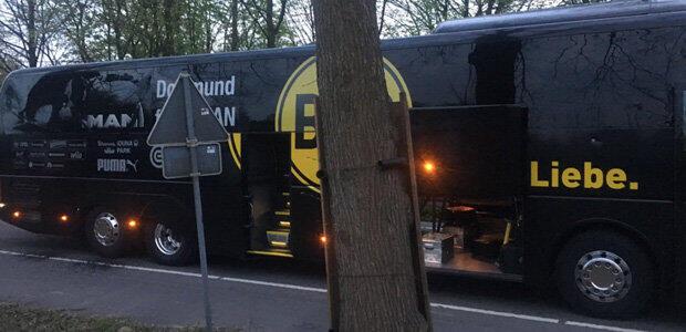 Borussia Dortmund football team bus hit by explosion