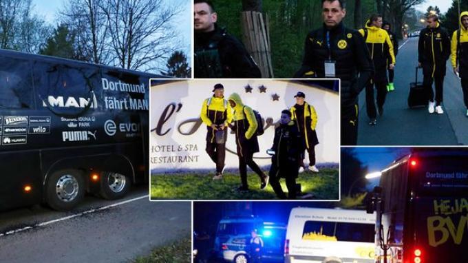Foto-foto Bus Borussia Dortmund yang Dihantam Tiga Bom