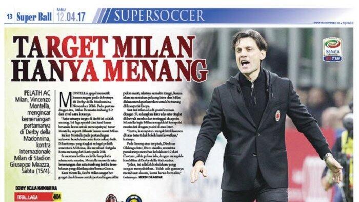 AC Milan Incar Kemenangan di Laga Kontra Inter Milan