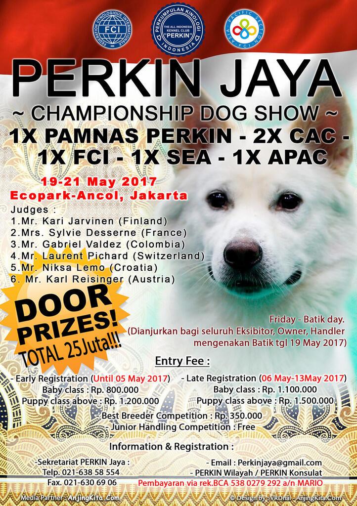 Dog Show di Jakarta 19-21 Mei 2017