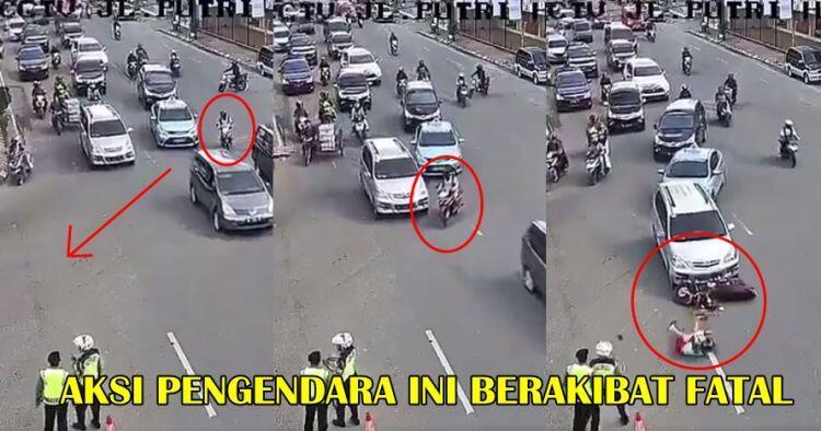 Rekaman CCTV kecelakaan nahas ini ingatkan pemotor agar tak ceroboh