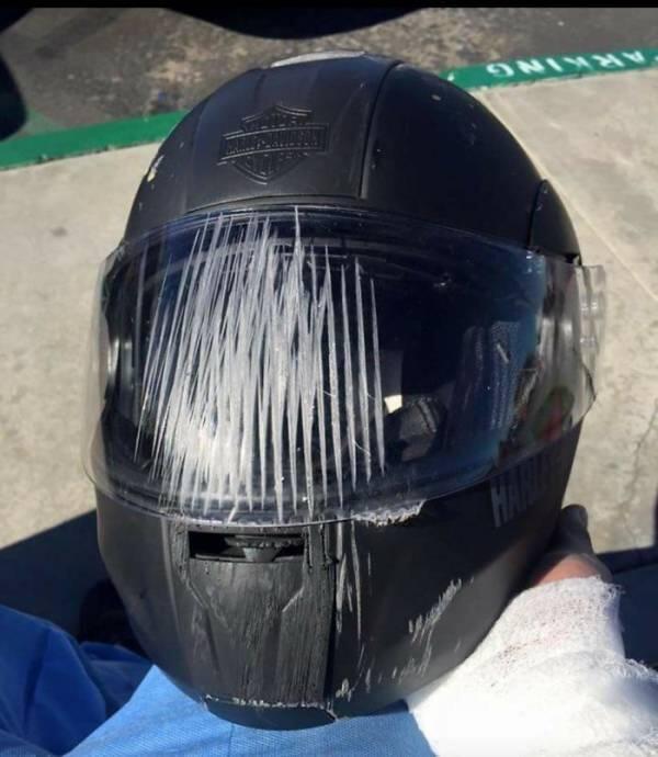 Foto Mengerikan!! Betapa Pentingnya Pakai Helm