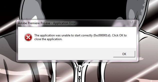 the application was unable to start correctly 22