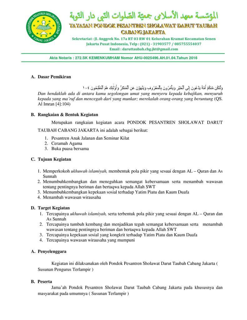 {INVITATION}~Buka Puasa Bersama - Seminar - Santunan Yatim & Dhuafa PPSDT Cabang JKT~