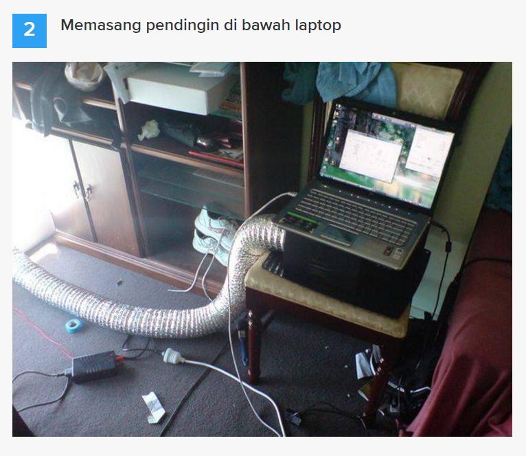 Cara ini di jamin bisa bikin laptop/pc gak Overheat